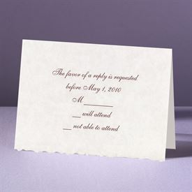 Parchment Deckle - Response Card and Envelope