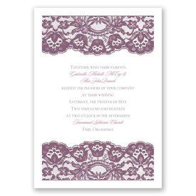 Elegant Wedding Invitations: Dressed in Lace Invitation