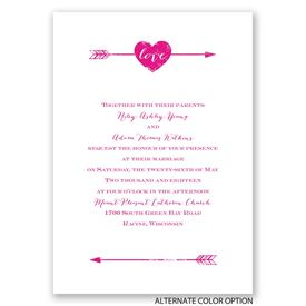 Rustic Arrow - Invitation