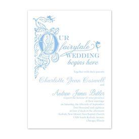 Elegant Wedding Invitations: Our Fairytale Invitation