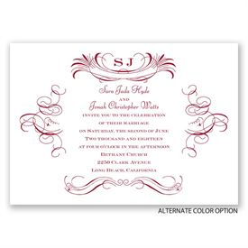Pretty Swirls - Invitation