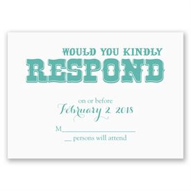 Today I Marry - Response Card