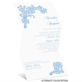 Lacy Floral - Invitation