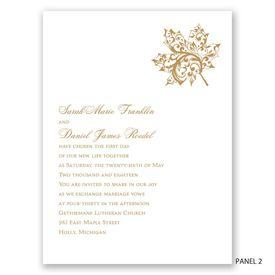 """Autumn""""s Grace - Invitation"""