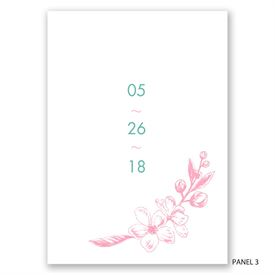 Apple Blossom Sketch - Invitation
