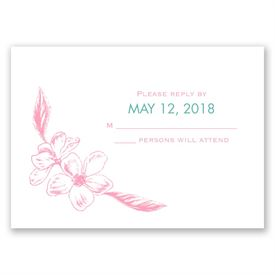Apple Blossom Sketch - Response Card
