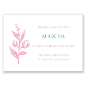 Apple Blossom Sketch - Reception Card