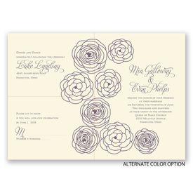 Simply Floral - Ecru - Separate and Send Invitation