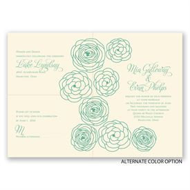 Simply Floral - Ecru - Separate and Send Invitation