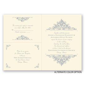 Vintage Victorian - Ecru - Separate and Send Invitation