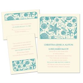 beach wedding invitations  ann's bridal bargains, Wedding invitations