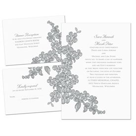Floral Sketch - Separate and Send Invitation