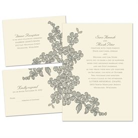 wedding invitations thermography floral sketch separate and send invitation - Fancy Wedding Invitations