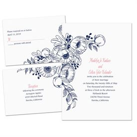 Penciled Posies - Separate and Send Invitation