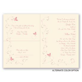 Butterflies - Ecru - Separate and Send Invitation