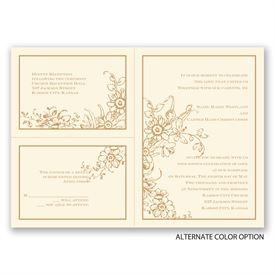 Love in Abundance - Ecru - Separate and Send Invitation