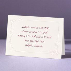 Crazy For Callas - Reception Card