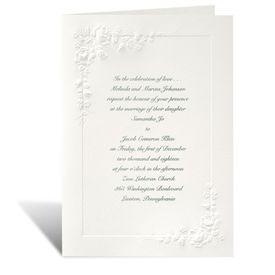 Ecru Wedding Invitations: Cherished Roses Invitation