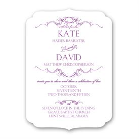 Petite Wedding Collection: Simply Beautiful Petite Invitation