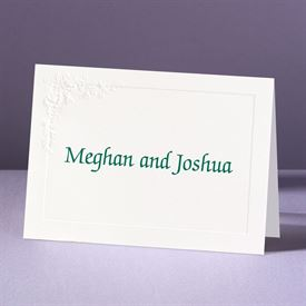 Embossed Floral in White - Note Card and Envelope