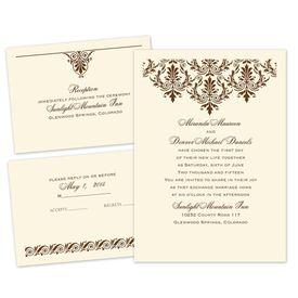 High Style - Ecru - Separate and Send Invitation