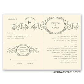 Initial Charm - Ecru - Separate and Send Invitation