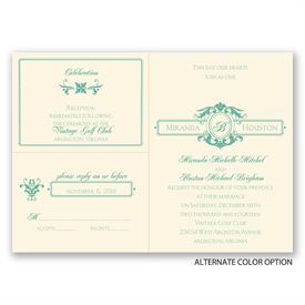 Striking Details - Ecru - Separate and Send Invitation