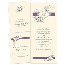Cherry Blossoms - Ecru - Separate and Send Invitation