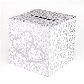 Silver Hearts Card Box