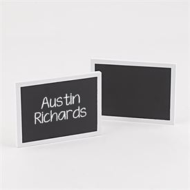 White Chalkboard Place Cards