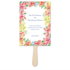 Brilliant Florals - Pink - Favor Fan