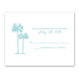 Tropical Pair - Response Card and Envelope