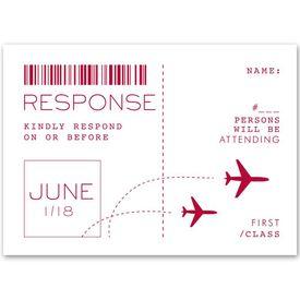 Boarding Pass - Response Card