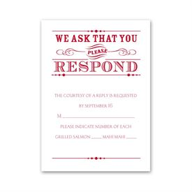 Typography on White - Response Card and Envelope