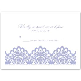 Luxurious Borders - White - Response Card and Envelope