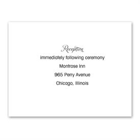 White - Thermography Reception Card