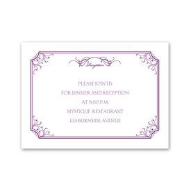 Simply Beautiful - Reception Card