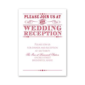 Typography on White - Reception Card