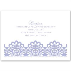 Luxurious Borders - White - Reception Card