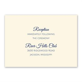 Ecru - Thermography Reception Card