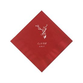 Classic Red Cocktail Napkin