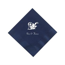Navy Cocktail Napkin