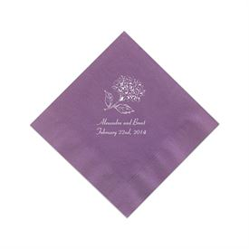 Purple Cocktail Napkin