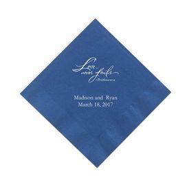 Royal Blue Cocktail Napkin