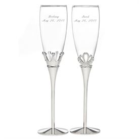 Crown Toasting Flutes