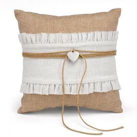 Wedding Ring Bearer Pillows & More: Rustic Romance Ring Pillow