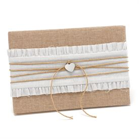 Wedding Guest Books and Pen Sets: Rustic Romance Guest Book