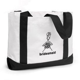 Wedding Tote Bags: Bridesmaid Black and White Tote Bag