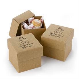Kraft Two-Piece Favor Boxes