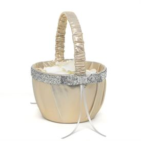Flower Girl Baskets & More: Metallic Sparkle Flower Basket